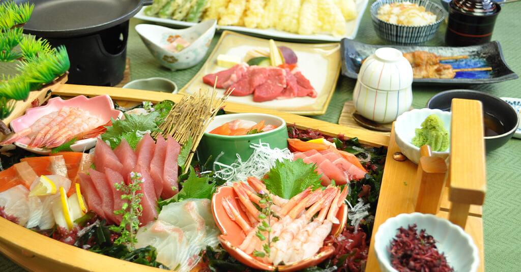 旅館松島宿泊プラン-舟盛り付きプラン(2食付き)